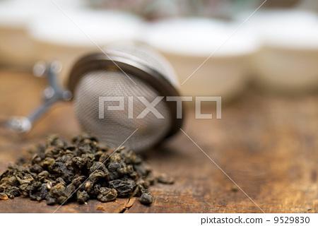 green chinese tea set 9529830