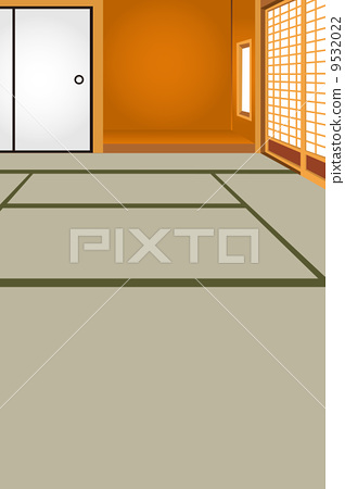 Illustration of a Japanese style room 9532022