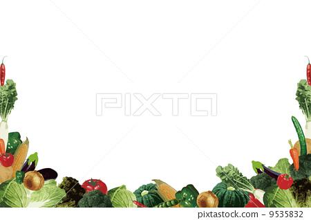 蔬菜框架 9535832