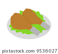 fried chicken, isolated, chicken 9536027