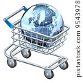globe, earth, shopping 9543978