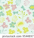 Seamless pattern with flowers 9544897