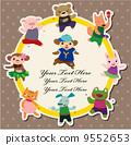 dancing, animal, template 9552653