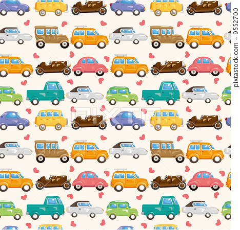 イラスト イラスト 無料 車 : 汽車 模式 圖案-圖庫插圖 [9552700 ...