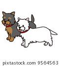 벡터, 개, 강아지 9564563