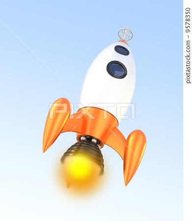Retro rocket - Stock Illustration [9578350] - PIXTA