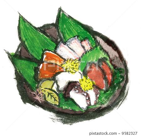 生魚片 刺身 日本料理 9582327