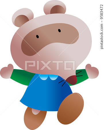raccoon dog, illustration, outfit 9583472