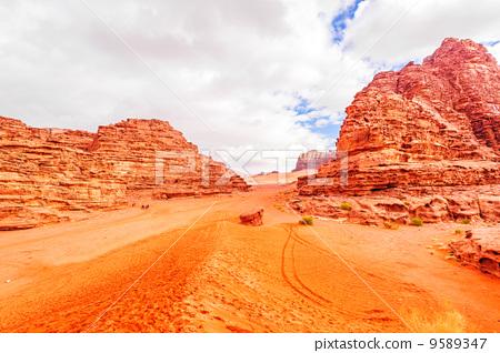 Jordan's desert (Jordan, Wadi Lam) 9589347