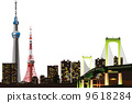 Illustration of Tokyo night view 9618284