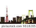도쿄 야경의 이미지 일러스트 9618285