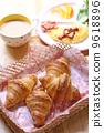 早餐 雞蛋 羊角麵包 9618896