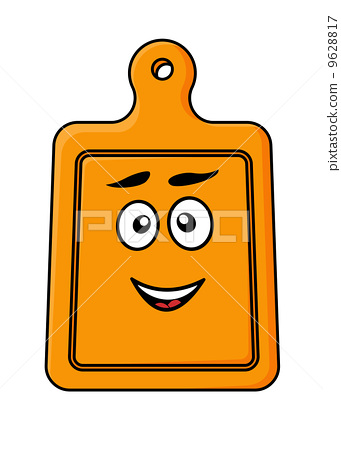 Smiling wooden kitchen chopping board 9628817