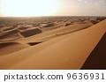 黄昏的撒哈拉大沙漠 9636931