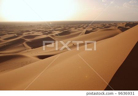 撒哈拉 撒哈拉大沙漠 暮色 9636931