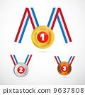 Vector Medals Set 9637808