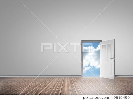 Door opening showing blue sky 9650490