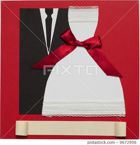 Wedding card, elegant style 9672906
