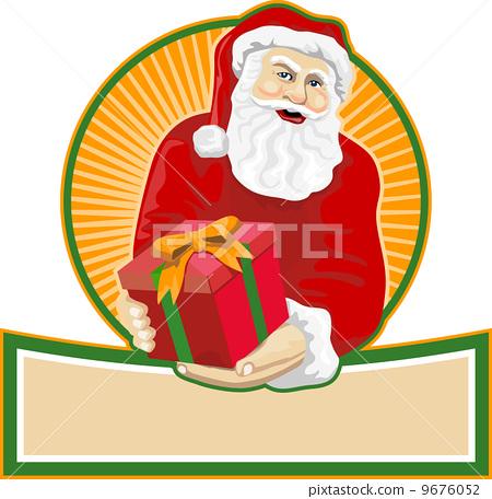 Santa Claus Father Christmas Retro 9676052