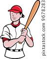 擊球手 擊球 卡通 9678283