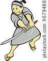 日本武士 剑 武士 9678486