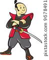 日本武士 剑 武士 9678491