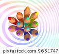 Rainbow color colored pencils 9681747
