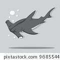 海洋 水下 鯊魚 9685544