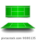 tennis court with perspective 9686135