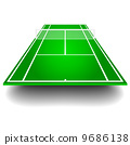 tennis court with perspective 9686138