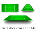 tennis court with perspective 9686142