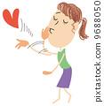 ผู้หญิง,ส่งจูบ,หญิง 9688050