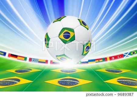 Stock Illustration: Soccer background
