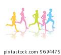 馬拉松賽跑 剪影 男人们 9694475