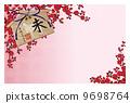 聯_ _新年賀卡花梅花_ 01 _洋子週年紀念日入場 9698764