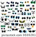 Cartoon vector eyes collection 9699281