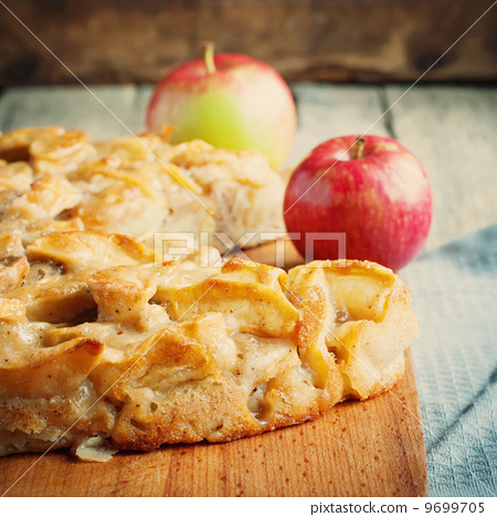 Stock Photo: Apple pie, square composition and toned image