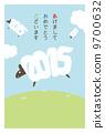 新年卡垂直(帶邊框)日文 9700632