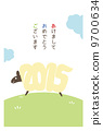 新年卡垂直(帶邊框)日文 9700634