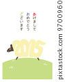 新年卡垂直(帶邊框)日文 9700960