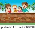 cartoon, family, illustration 9710098