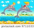 海豚 矢量 矢量图 9711033