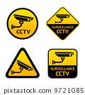 cctv, sticker, camera 9721085
