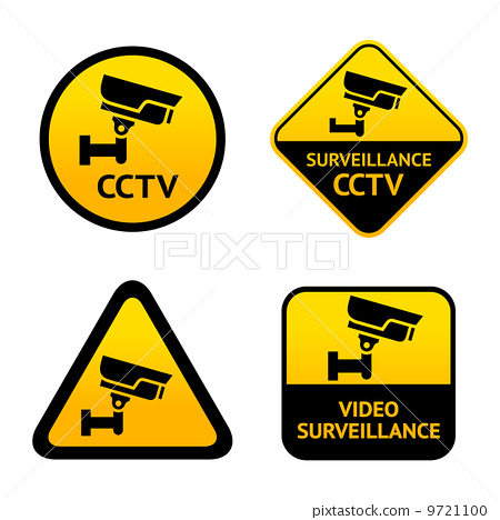Video surveillance, set labels 9721100