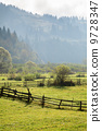 fence, countryside, morning 9728347