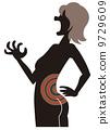 女性患有腰痛 9729609