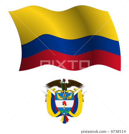 colombia wavy flag and coat 9738514
