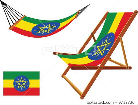 ethiopia hammock and deck chair set 9738736