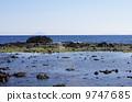 從Izushita Shimodate高原海岸俯瞰Izukoshima的海市蜃樓 9747685