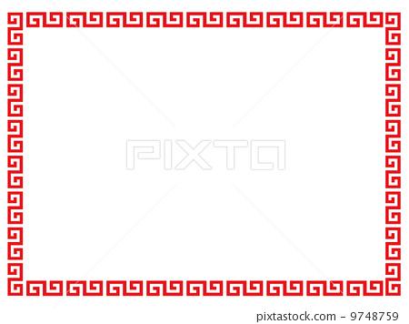 chinese pattern, vector, vectors - Stock Illustration [9748759] - PIXTA